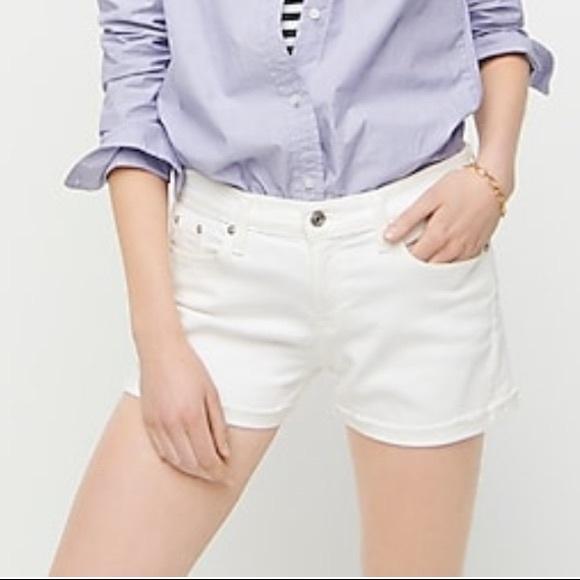 NWOT women's jcrew white jean shorts, size 26